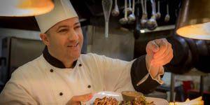 Chef preparing food in Limerick restaurant