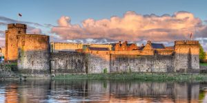 Beautiful view of King Johns Castle in Limerick
