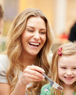 Young family laughing and having fun - Family Friendly Hotel Limerick