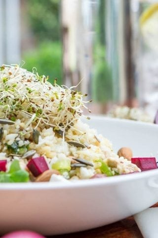 A salad on display in the Grain & Grill restaurant Limerick