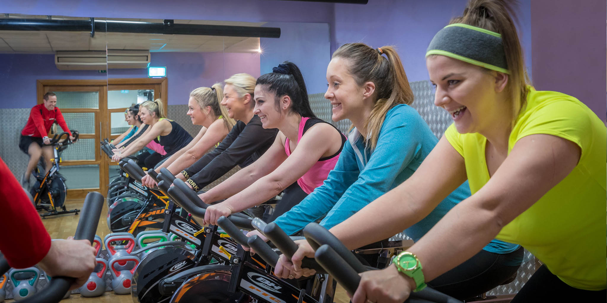 Ladies enjoying a spin class in the Maldron leisure centre in Limerick